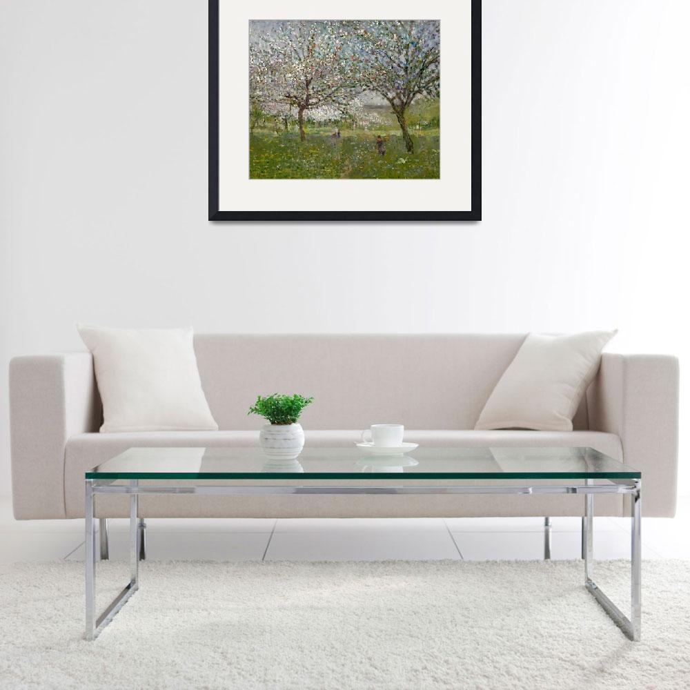 """""""Apple Trees in Flower&quot  by fineartmasters"""
