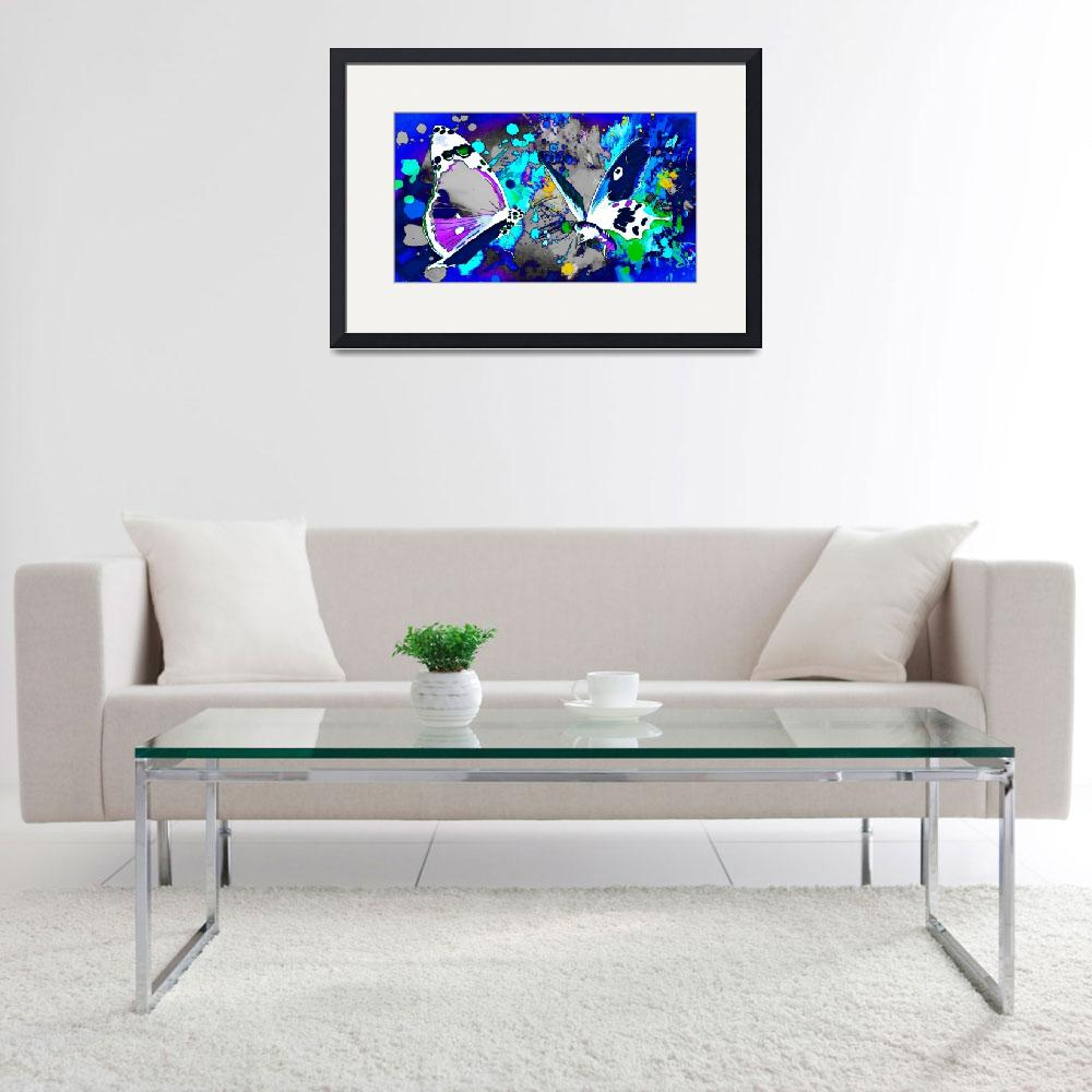 """Abstract Butterfly Art 24&quot  (2016) by positivebusinessdesigns"