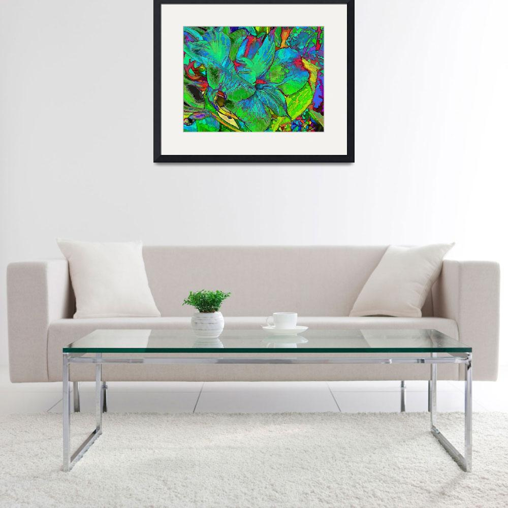 """""""Lily Duo in Turquoise and Green""""  (2017) by LyndaLehmann"""