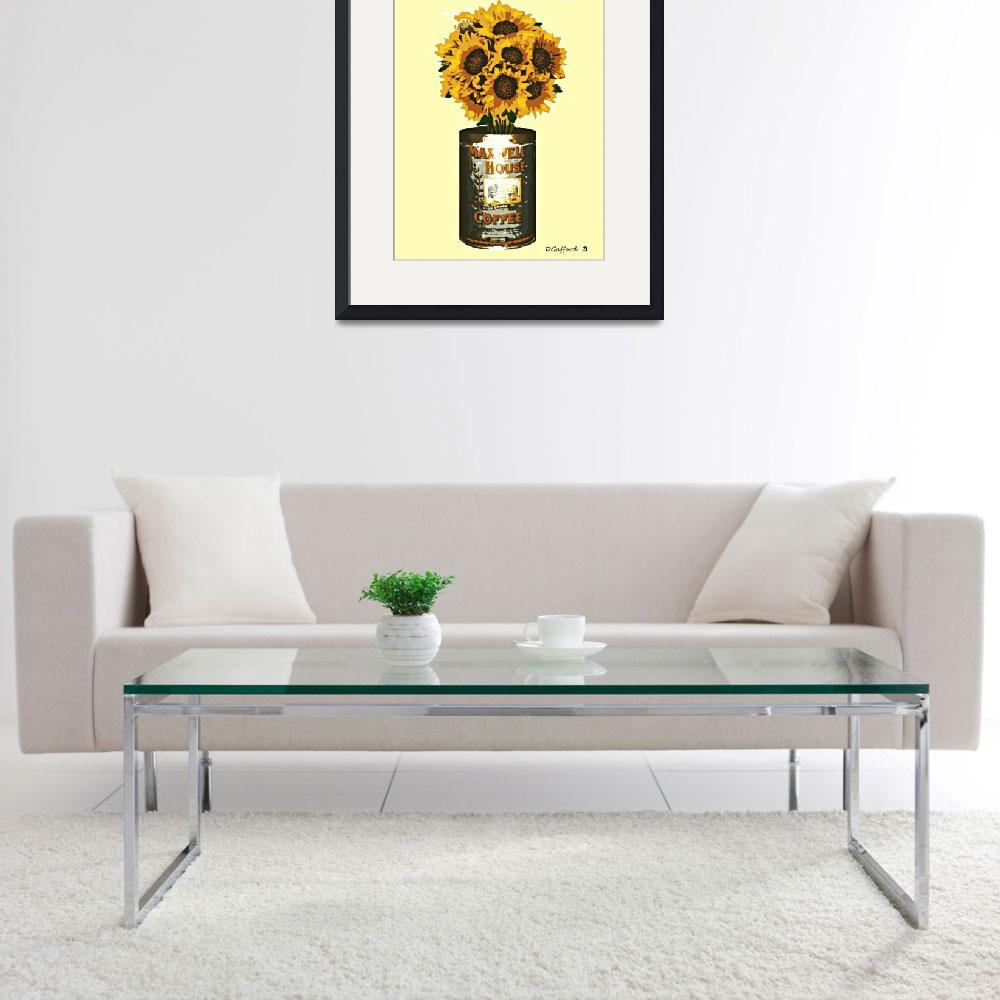 """""""Sunflowers in Coffee Can&quot  (2014) by davegafford"""