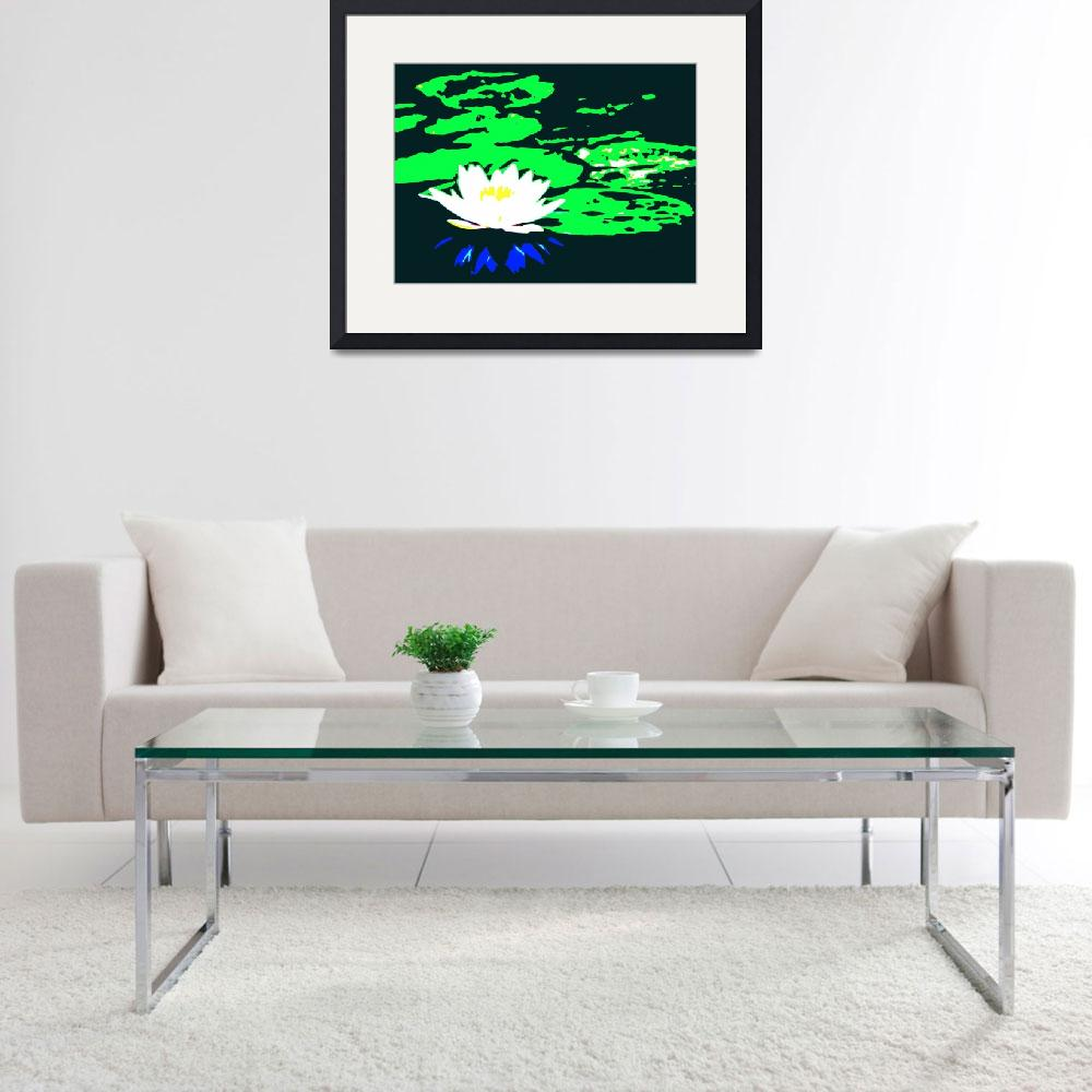 """Lotus Flower with Lily Pads II&quot  (2014) by TheNorthernTerritory"