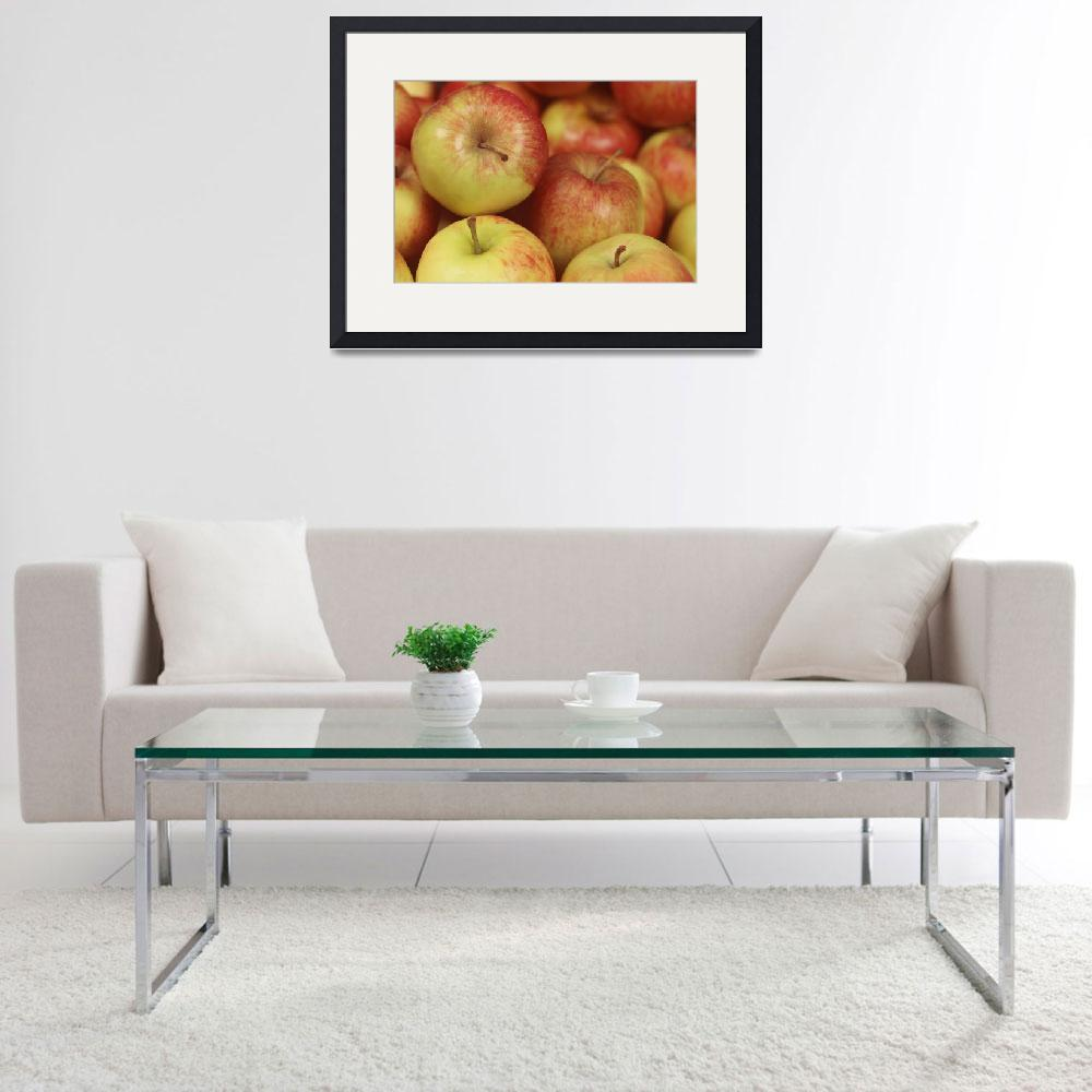 """""""Delicious Apple fruits background in closeup&quot  by 4u"""