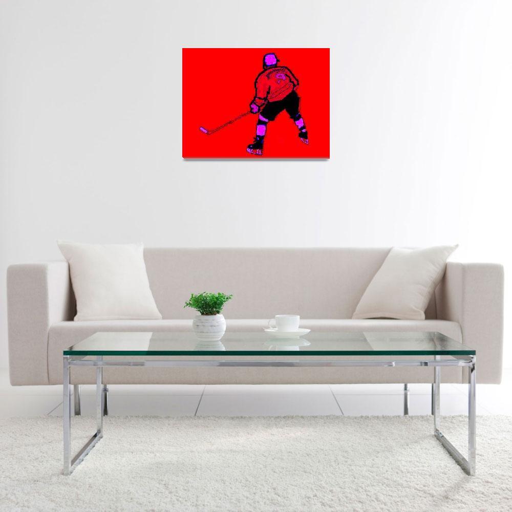 """Hockey Center red purple black (c)""  (2014) by edmarion"