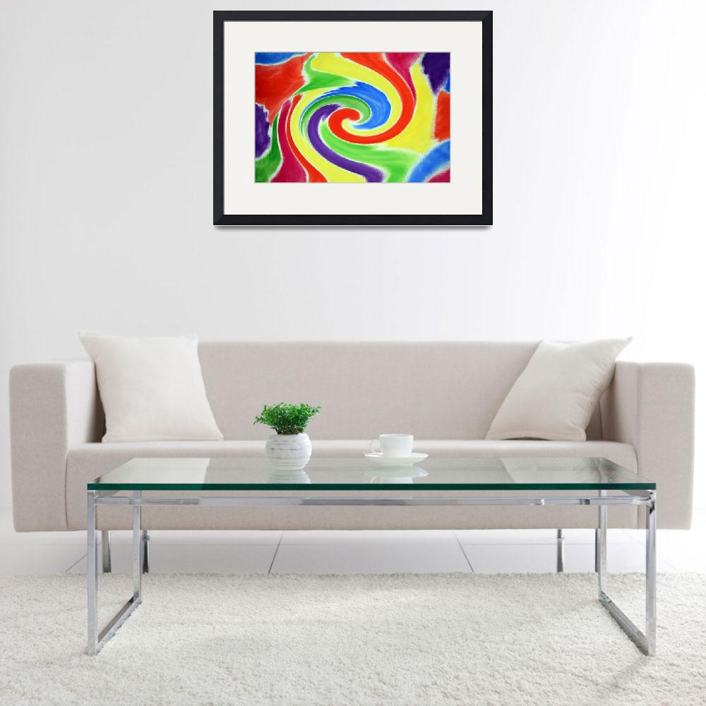 """Abstract Swirl Watercolor A2 1216&quot  (2016) by MasArtStudio"