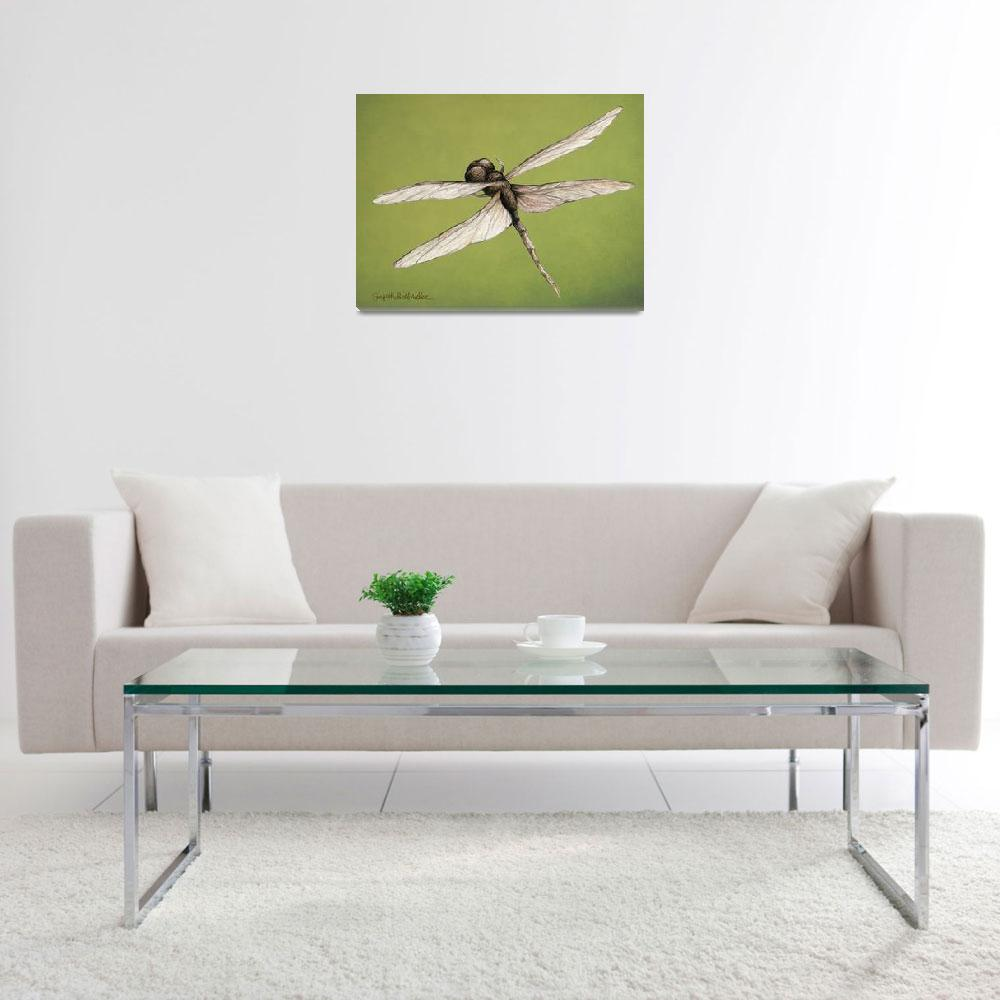 """""""Dragonfly&quot  (2012) by GiorgettaMcRee"""