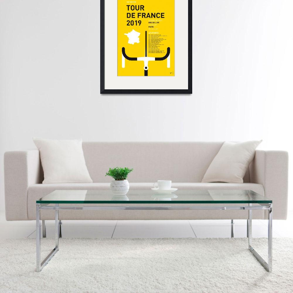 """MY TOUR DE FRANCE MINIMAL POSTER 2019""  by Chungkong"