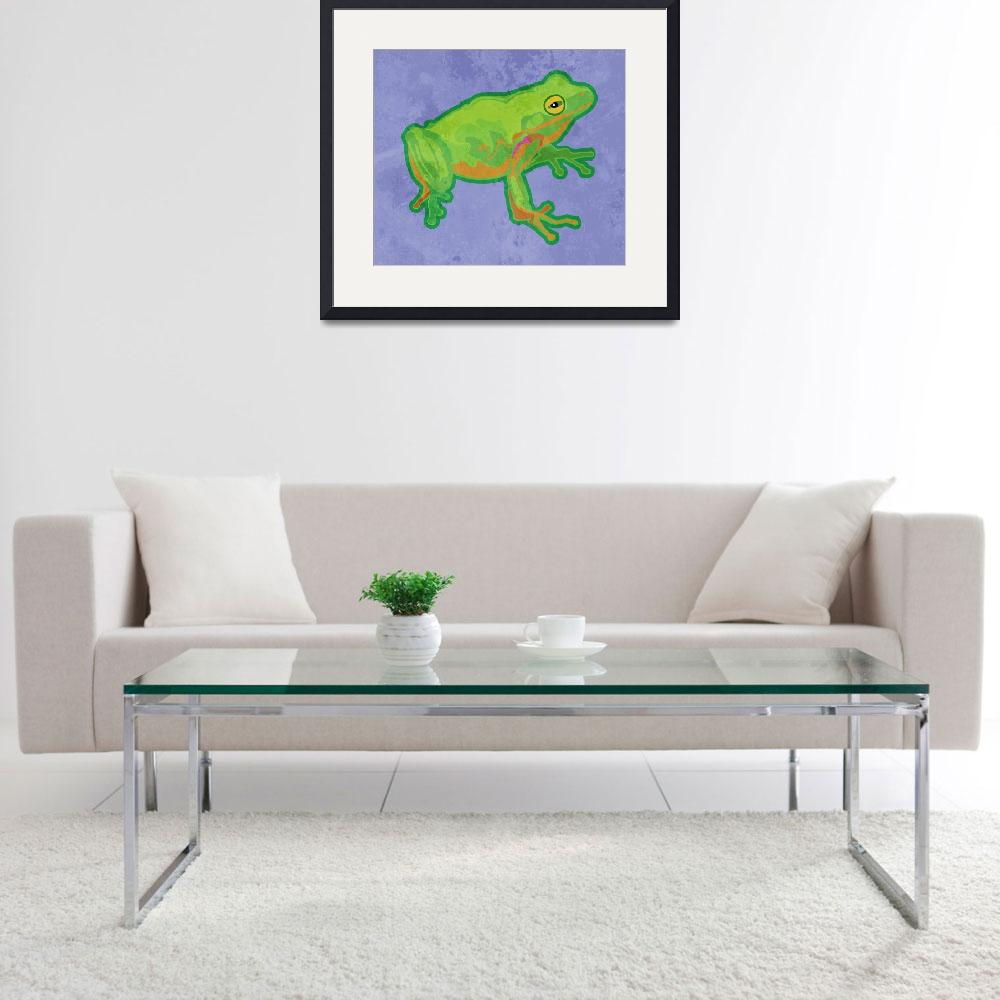 """Green Tree Frog&quot  (2012) by maryostudio"