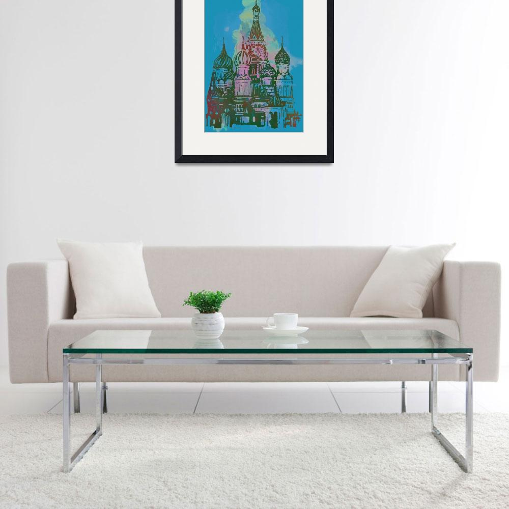 """""""Cathedral Of St Basil Kremlin - Pop Art Poster&quot  (2014) by visualharbour"""