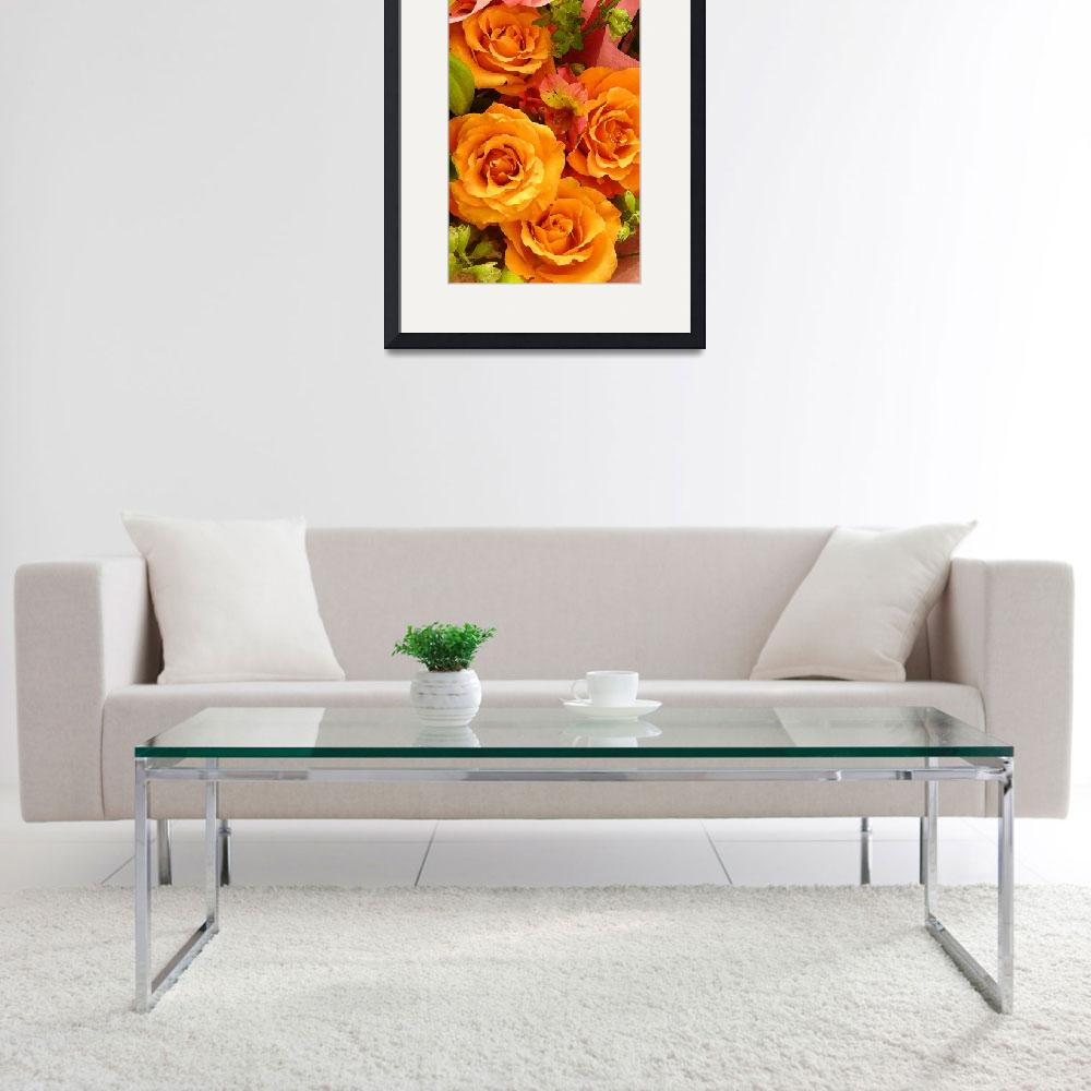 """Bouquet of Orange Roses Tall&quot  (2009) by AmyVangsgard"