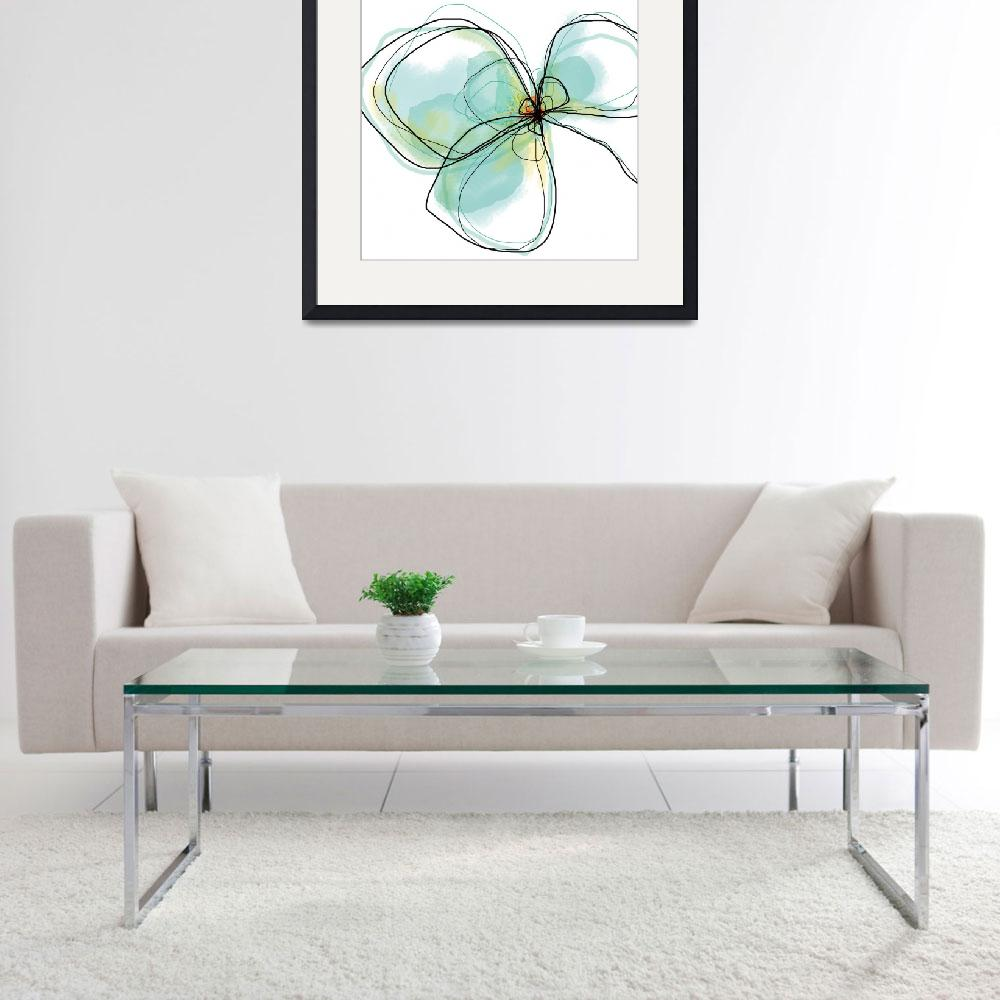 """""""Three Teal Petals&quot  (2012) by TuesdayMoon"""