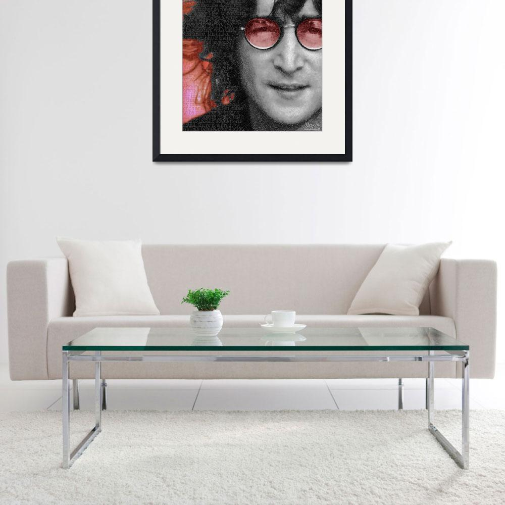 """Imagine John Lennon Again&quot  (2013) by RubinoFineArt"