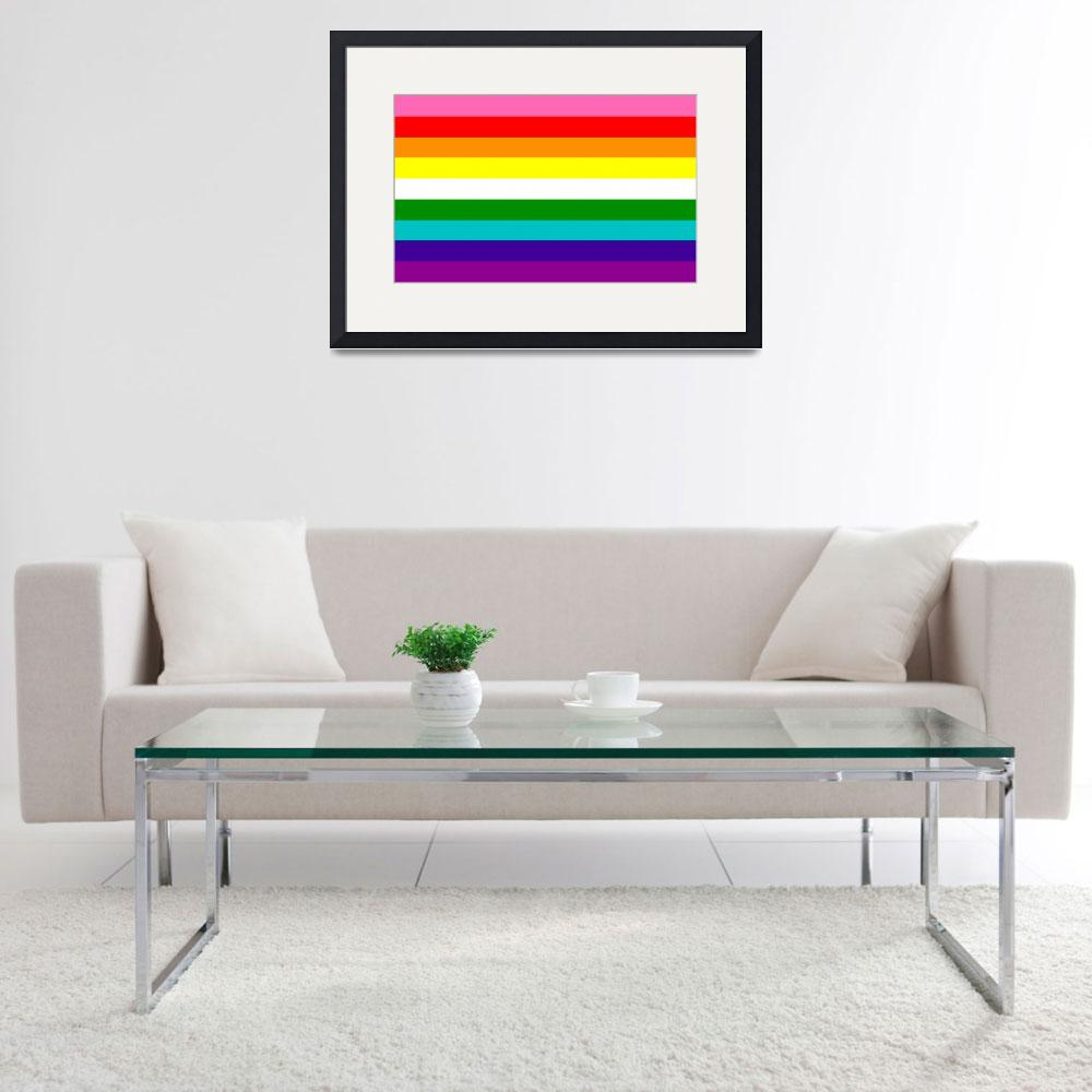 """""""Gay Pride Flag with 9 Stripes""""  by ArtHistory"""