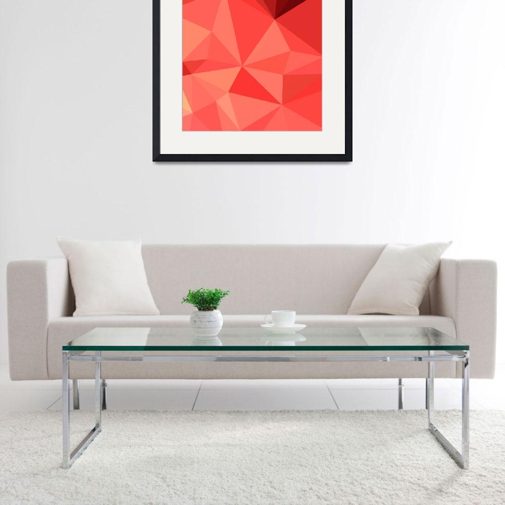 """Portland Orange Abstract Low Polygon Background&quot  (2015) by patrimonio"