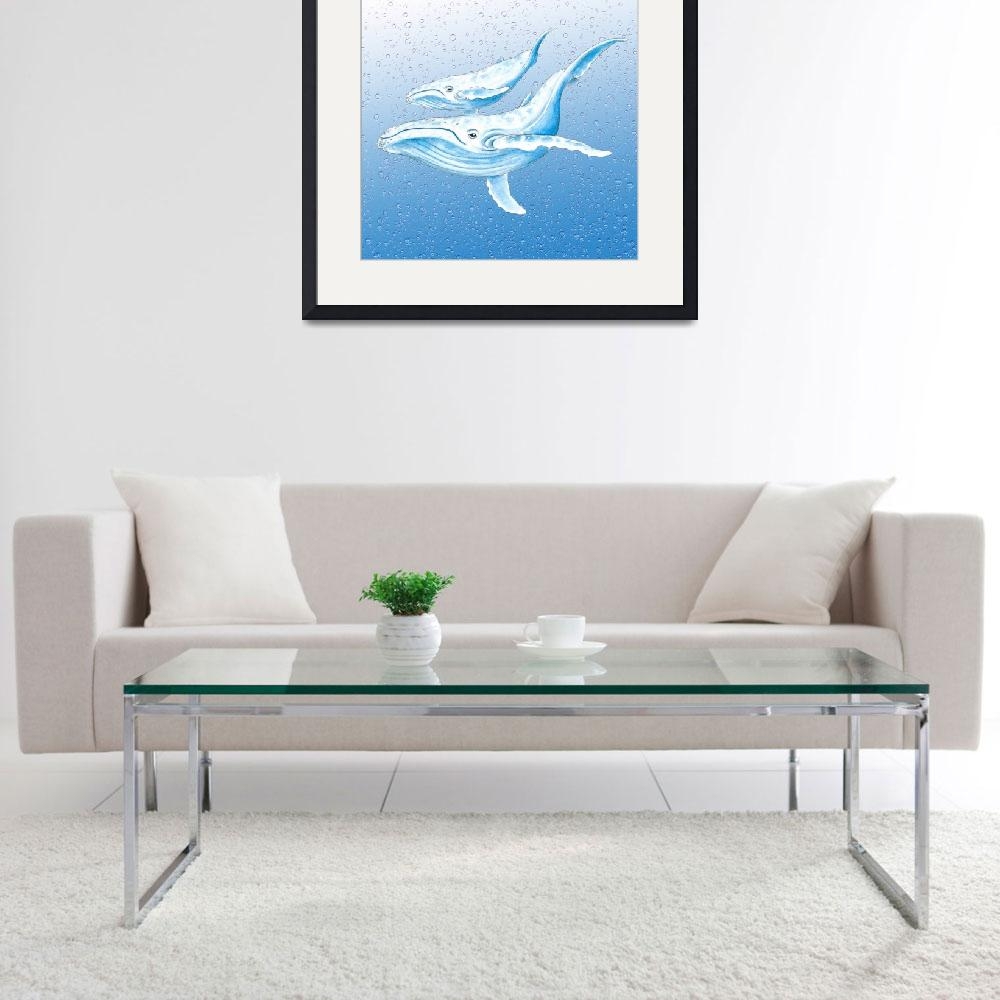 """""""Blue Whales&quot  by artdeep"""