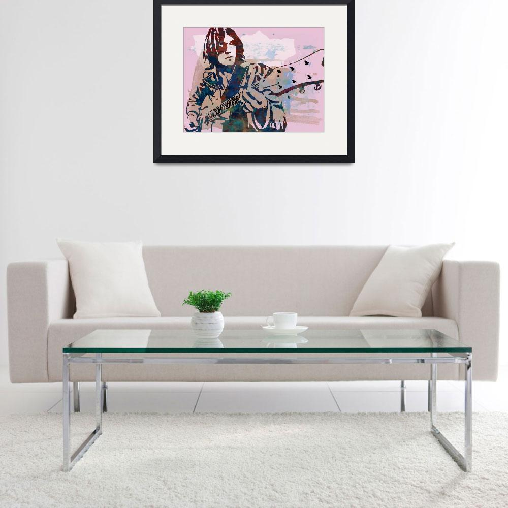 """""""neil young  Stylised Etching Pop Art Poster&quot  (2014) by visualharbour"""