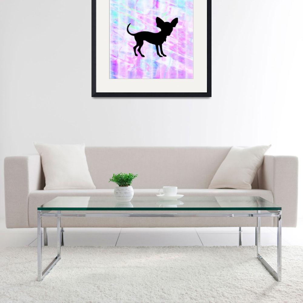 """Chihuahua Silhouette on Homespun Art&quot  (2013) by SignaturePromos"