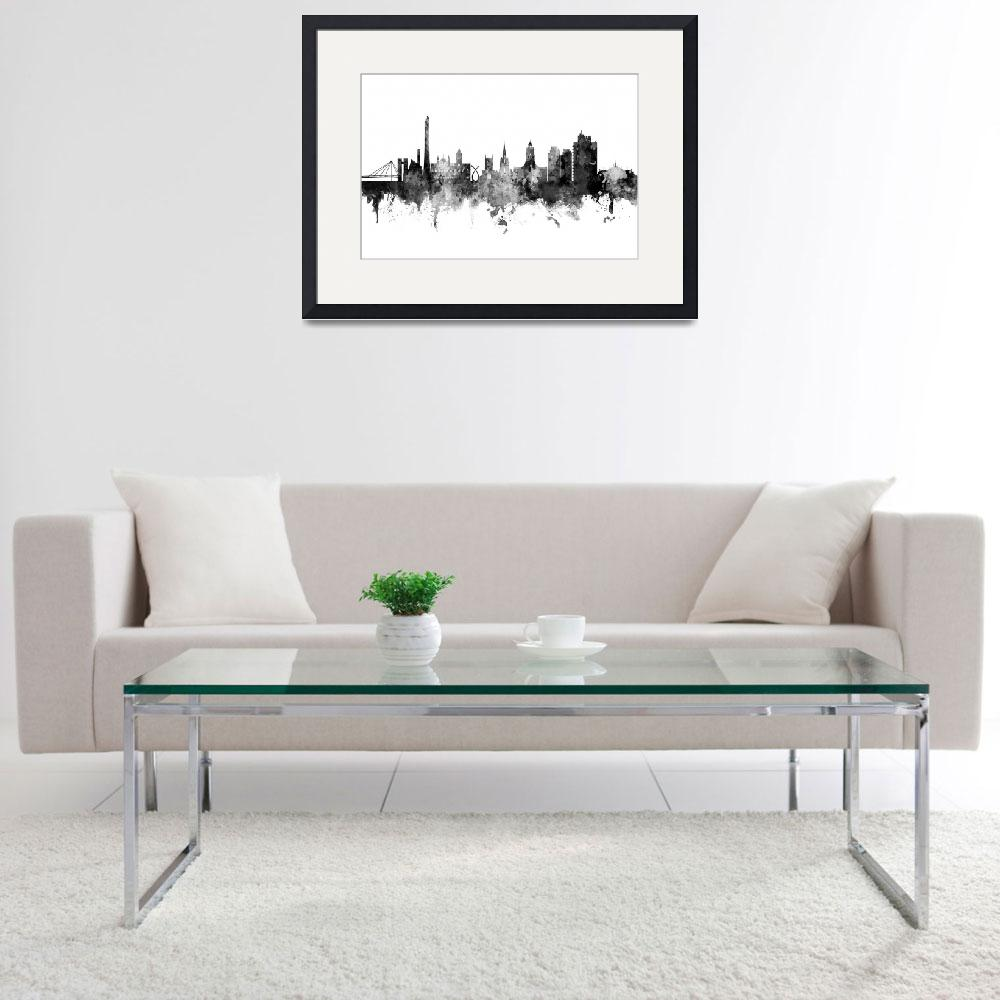 """Northampton England Skyline&quot  (2019) by ModernArtPrints"