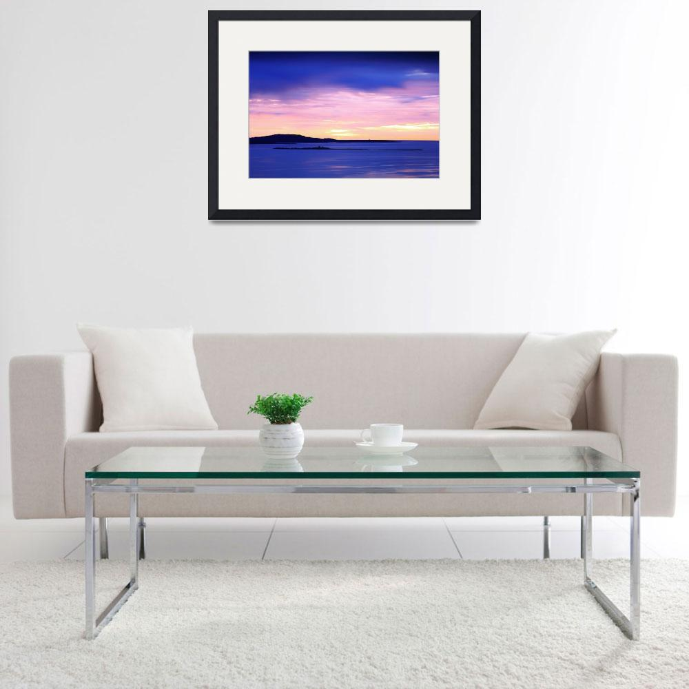 """""""Dawn Sky over the Schoodic Peninsula&quot  (2016) by RoupenBaker"""