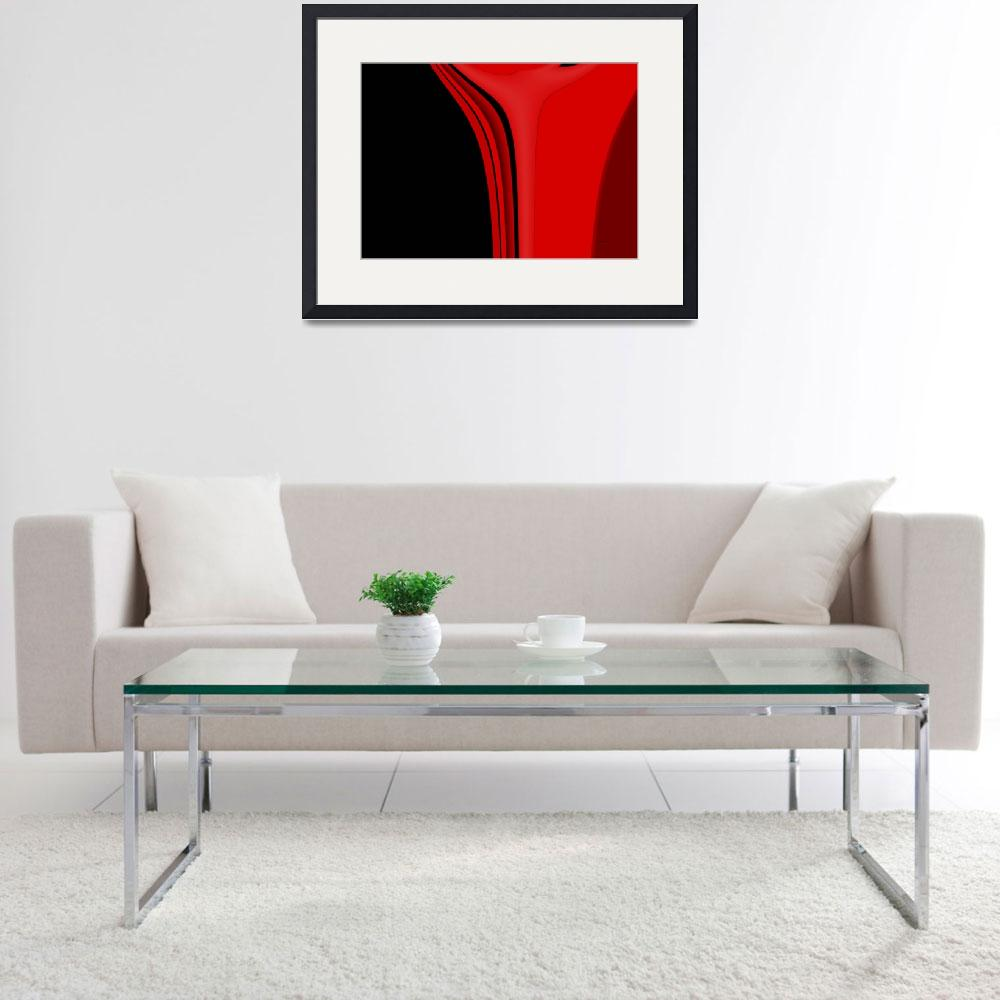 """9-red-black-modern&quot  (2008) by shanmaree"