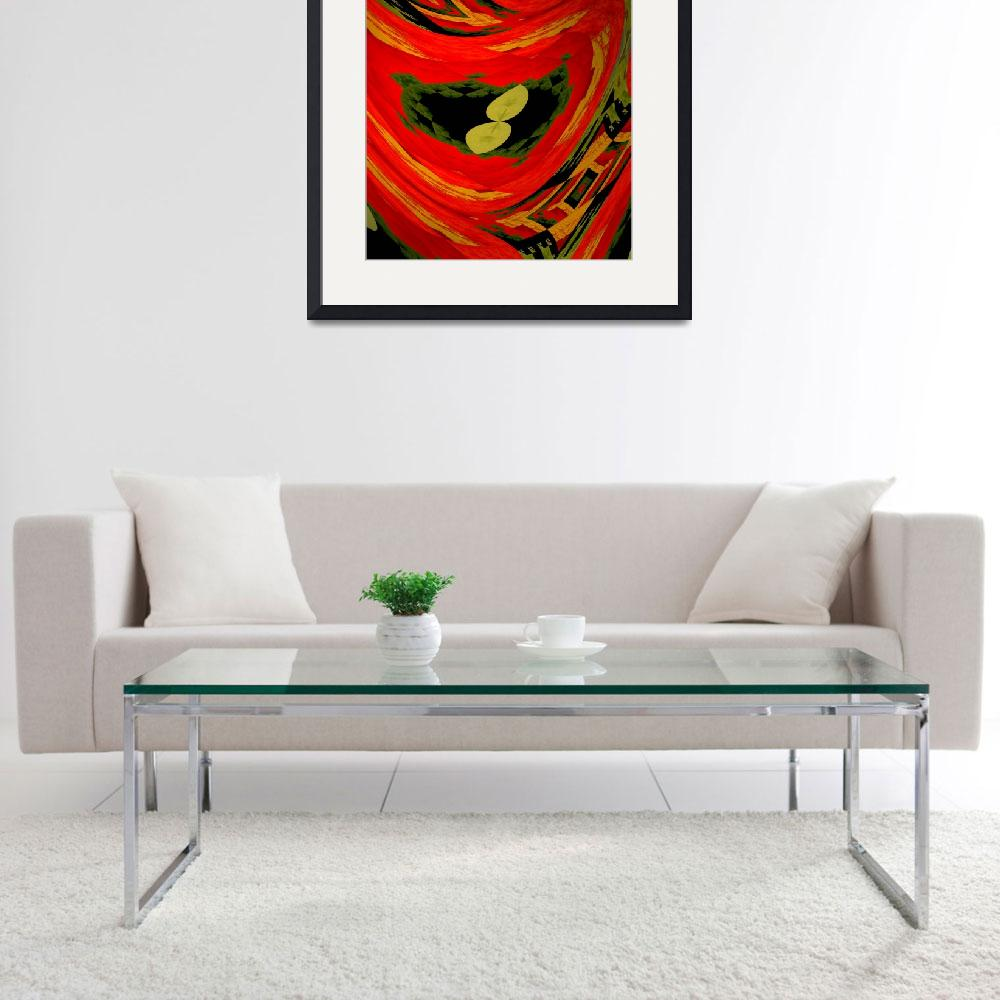 """Nasturtium abstract&quot  by Kirby"