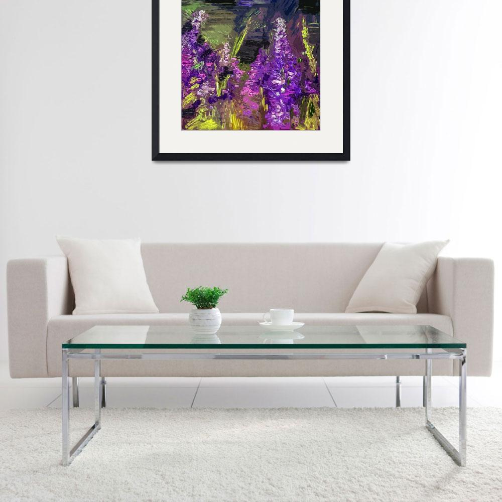 """""""Abstract Lupines Flower Art by Ginette&quot  (2012) by GinetteCallaway"""