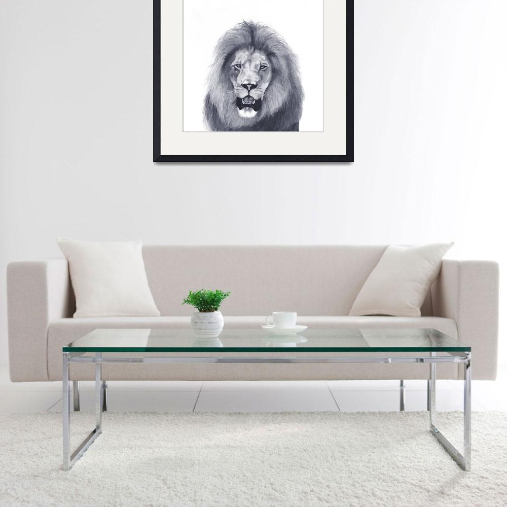 """Lion Portrait&quot  (2008) by heathlocke"