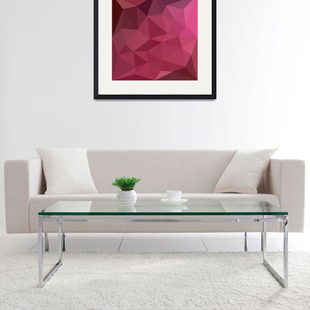 """""""Begonia Pink Abstract Low Polygon Background&quot  (2016) by patrimonio"""