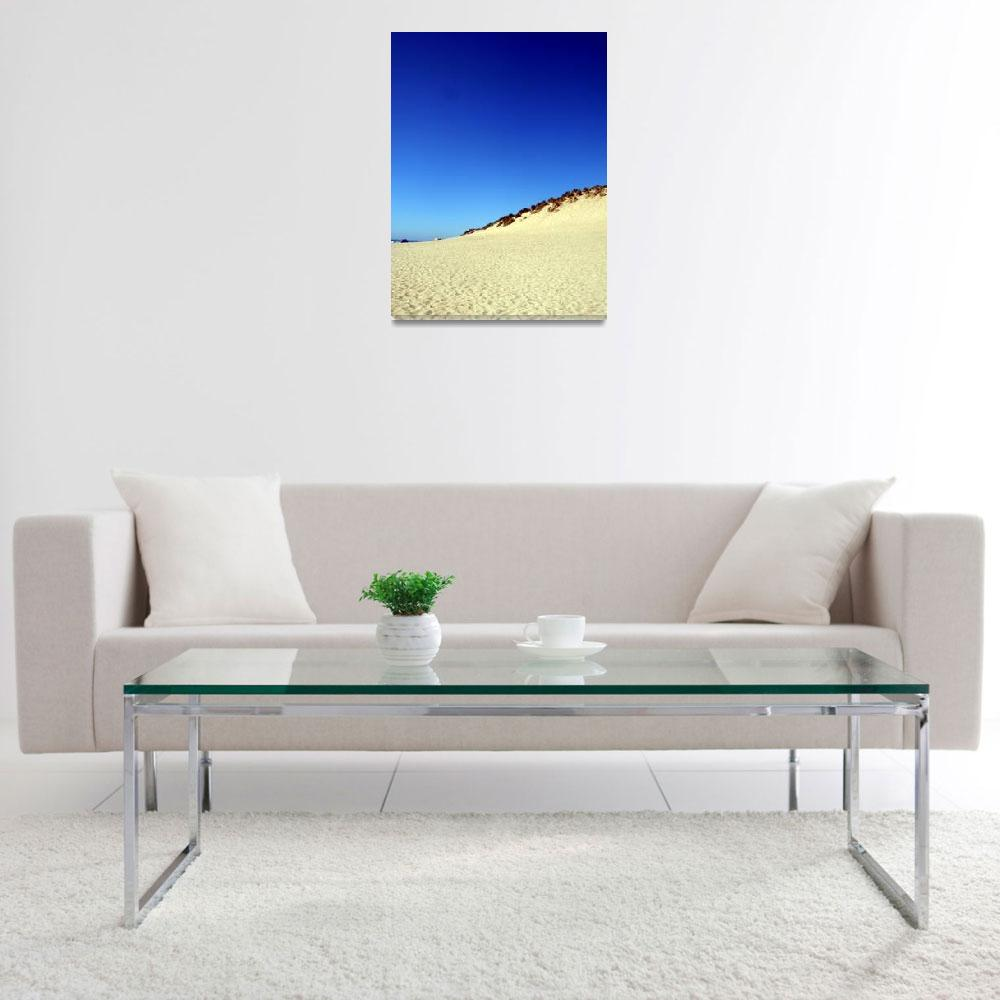 """""""Blue Sky Over The Dunes&quot  (2008) by snowbear"""