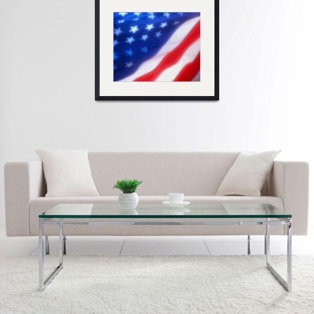 """""""USA Flag 03&quot  (2010) by whitewallgallery"""