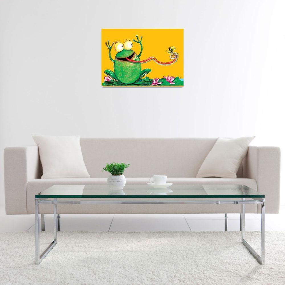 """""""Frog&quot  by natasa_kostovska"""