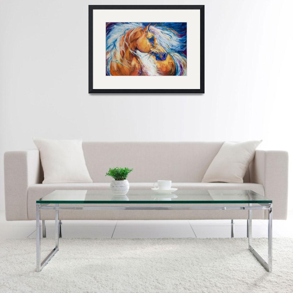 """Free Breeze Palomino [SIGNED]&quot  by MBaldwinFineArt2006"