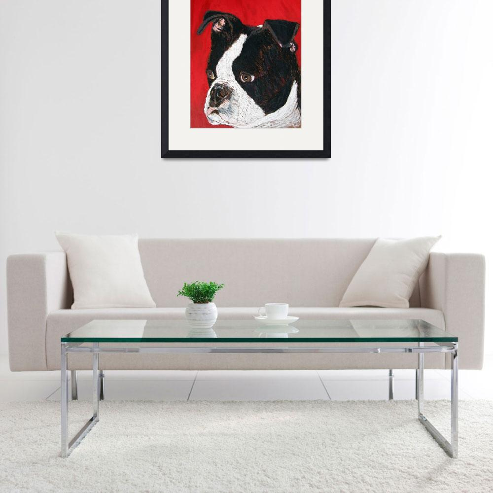 """""""Boston Terrier&quot  (2008) by Robbi"""
