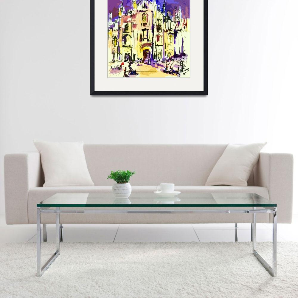 """""""Milan Italy Cathedral Abstract Art by Ginette&quot  (2012) by GinetteCallaway"""