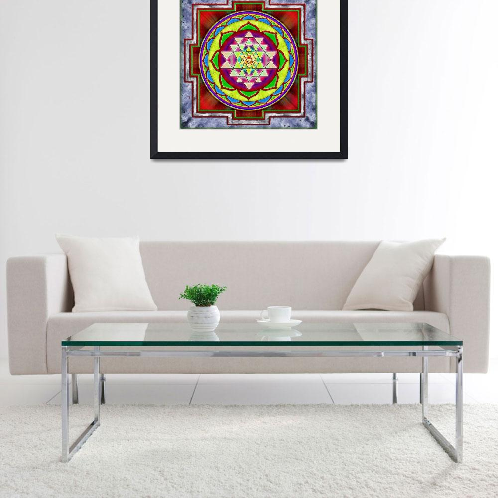 """Intuition Sri Yantra - Artwork 1&quot  by dcz"