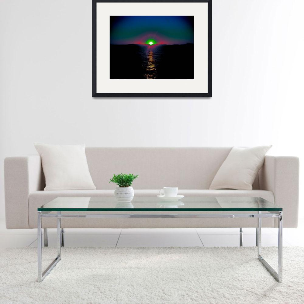 """Moment of Green Flash at Sunrise Croatia&quot  (2011) by tgrgalleries"