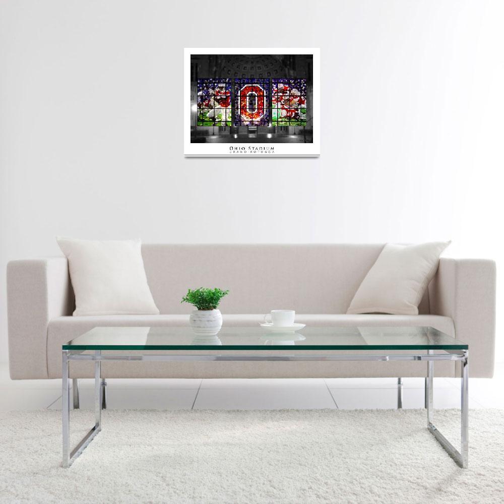 """Ohio Stadium Grand Rotunda Stained Glass&quot  (2009) by ssanders79"