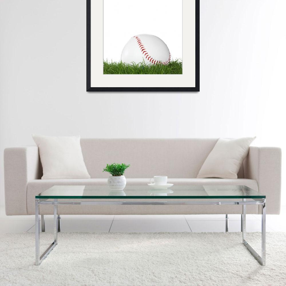 """""""A baseball ball in the grass.&quot  (2008) by Piotr_Marcinski"""