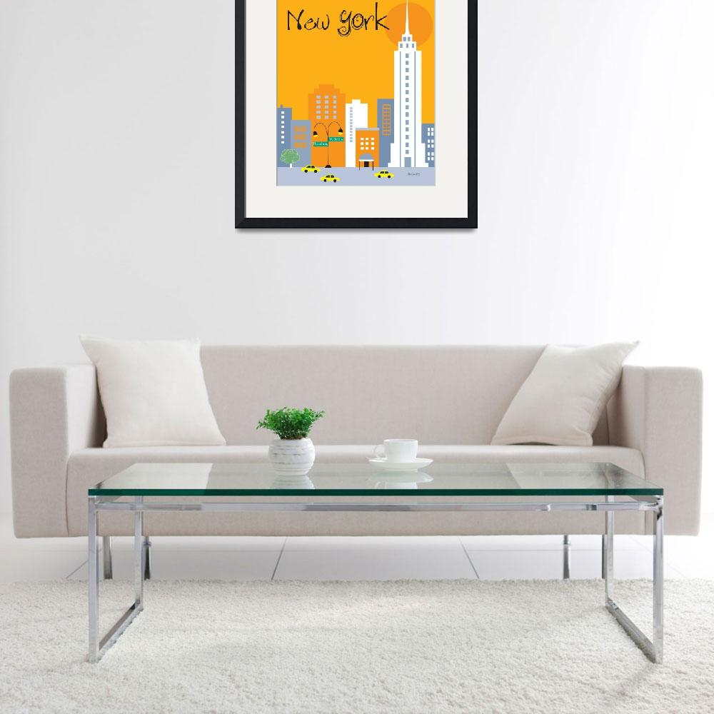 """New York City, New York - Orange""  (2011) by loosepetals"