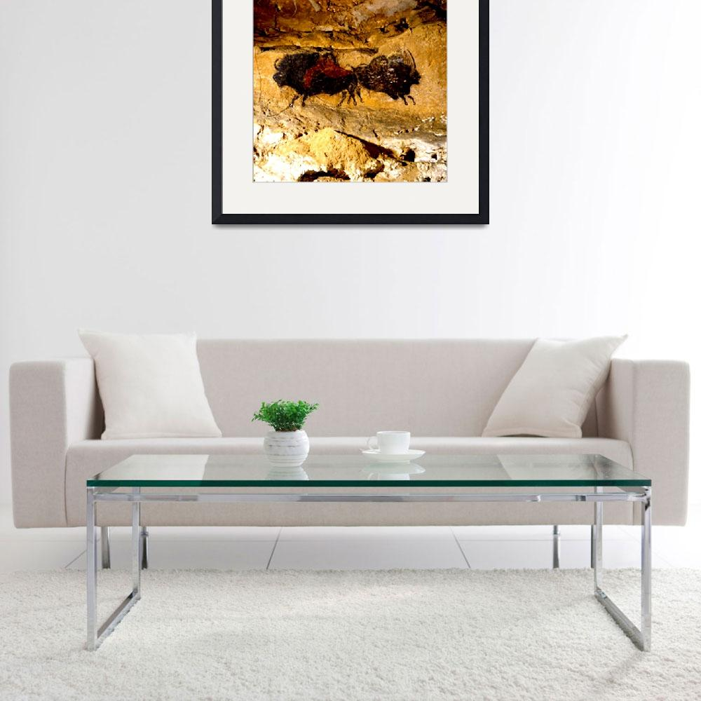 """""""2 Buffalo Lascaux Cave SE France&quot  (2014) by TheNorthernTerritory"""
