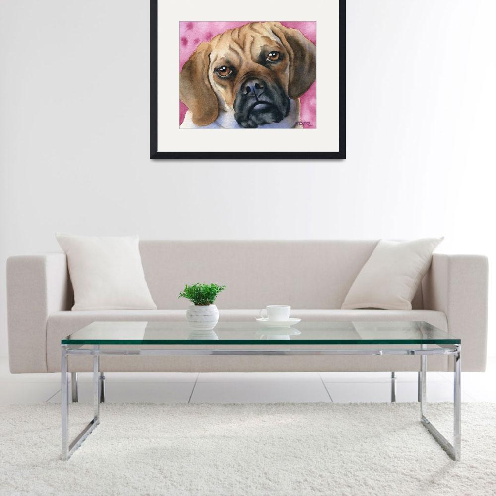 """""""Puggle&quot  (2015) by k9artgallery"""