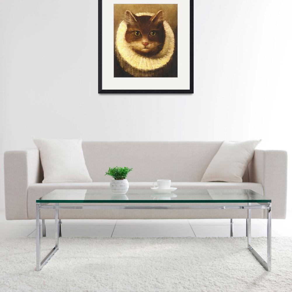 """Cat In A Ruff Cute Victorian Art Vintage Painting&quot  by masterpiecesofart"