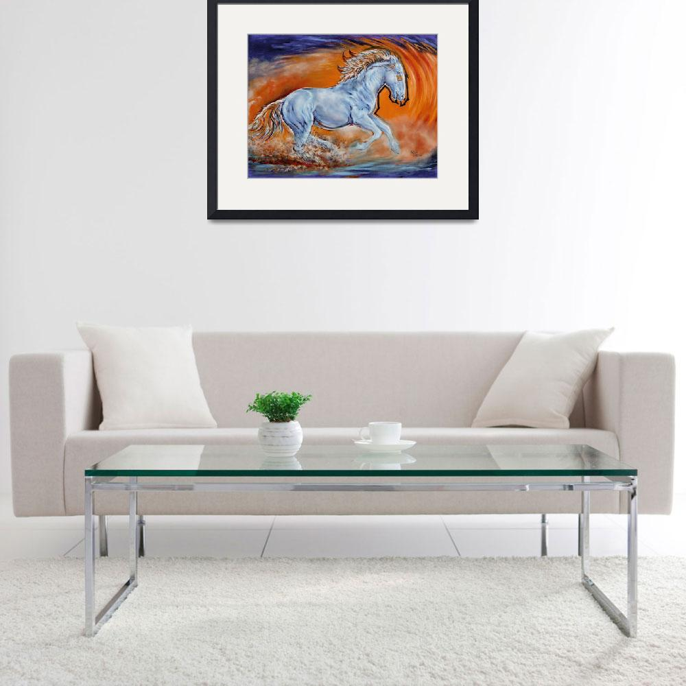 """""""Broncos Feel The Thunder (digital)&quot  (2014) by UngerArt"""