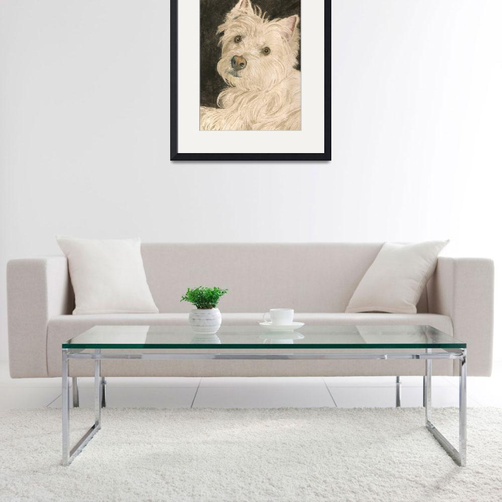 """""""Katie the West Highland White Terrier&quot  (2010) by mozache"""