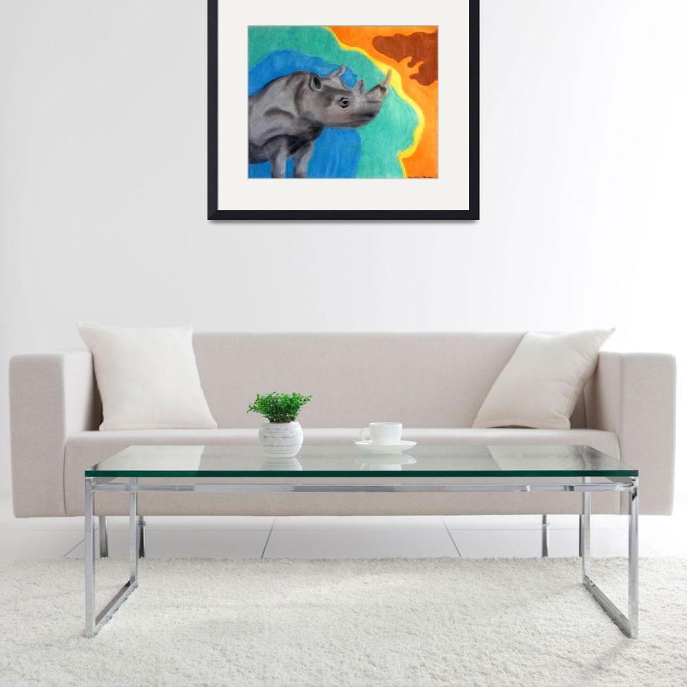 """""""A Cheerful Rhino&quot  (2007) by Kimmary"""