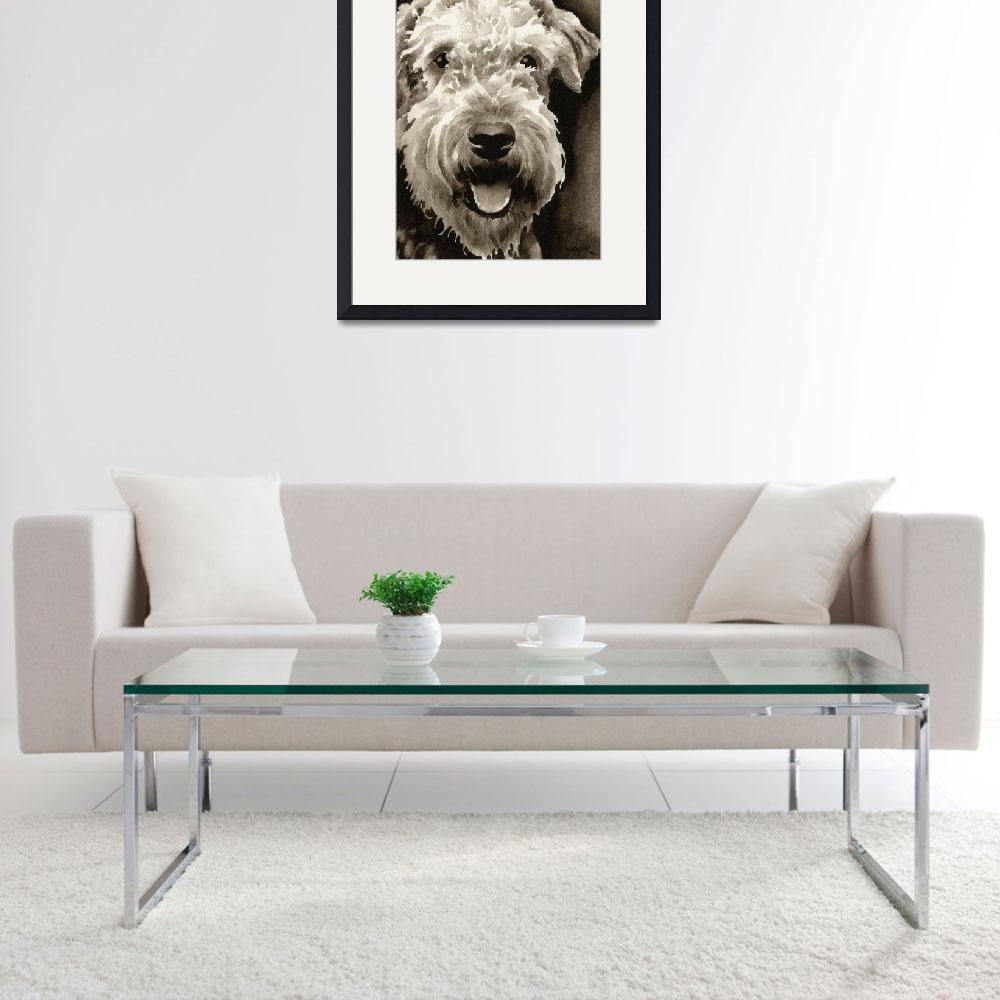 """""""Airedale Terrier""""  (2010) by k9artgallery"""