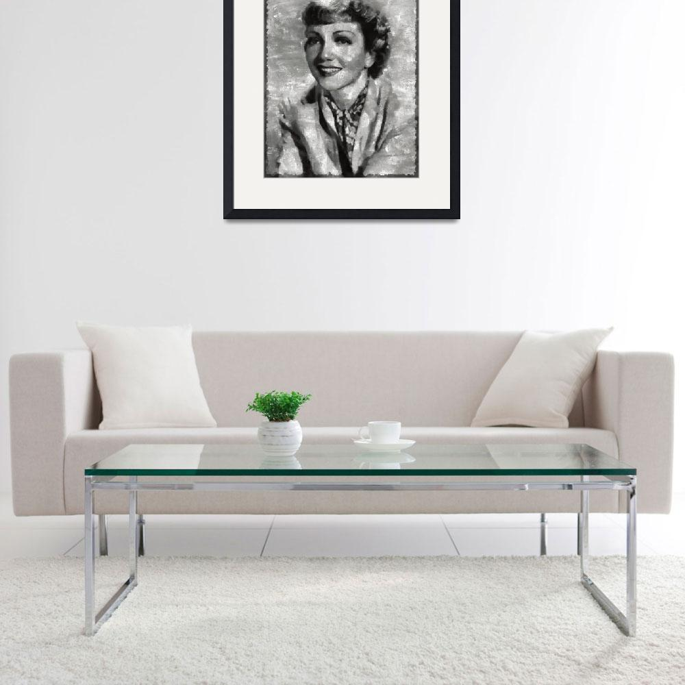 """""""Claudette Colbert&quot  (2016) by esoterica"""