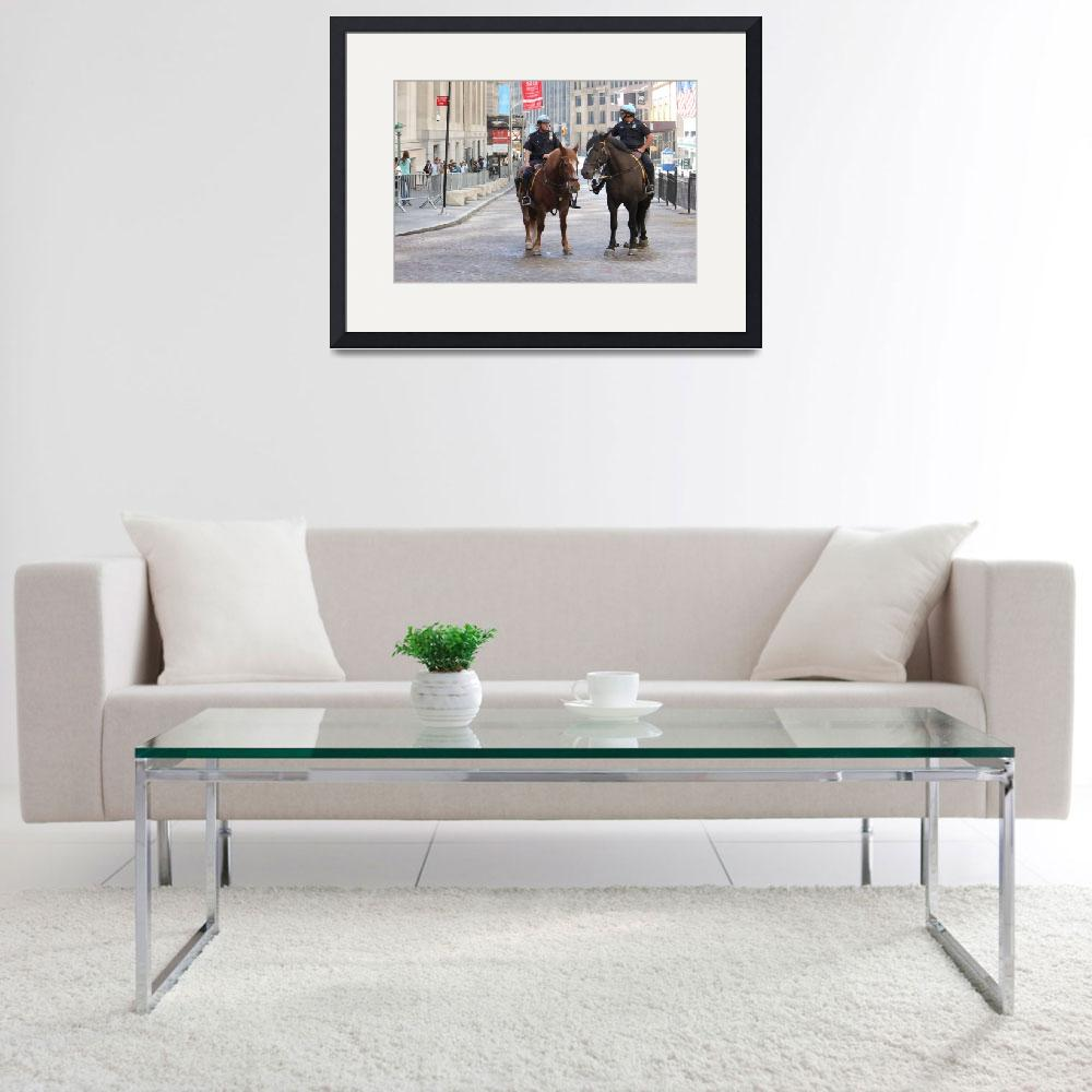 """""""Wall Street Mounted Police&quot  (2011) by egorevseev"""
