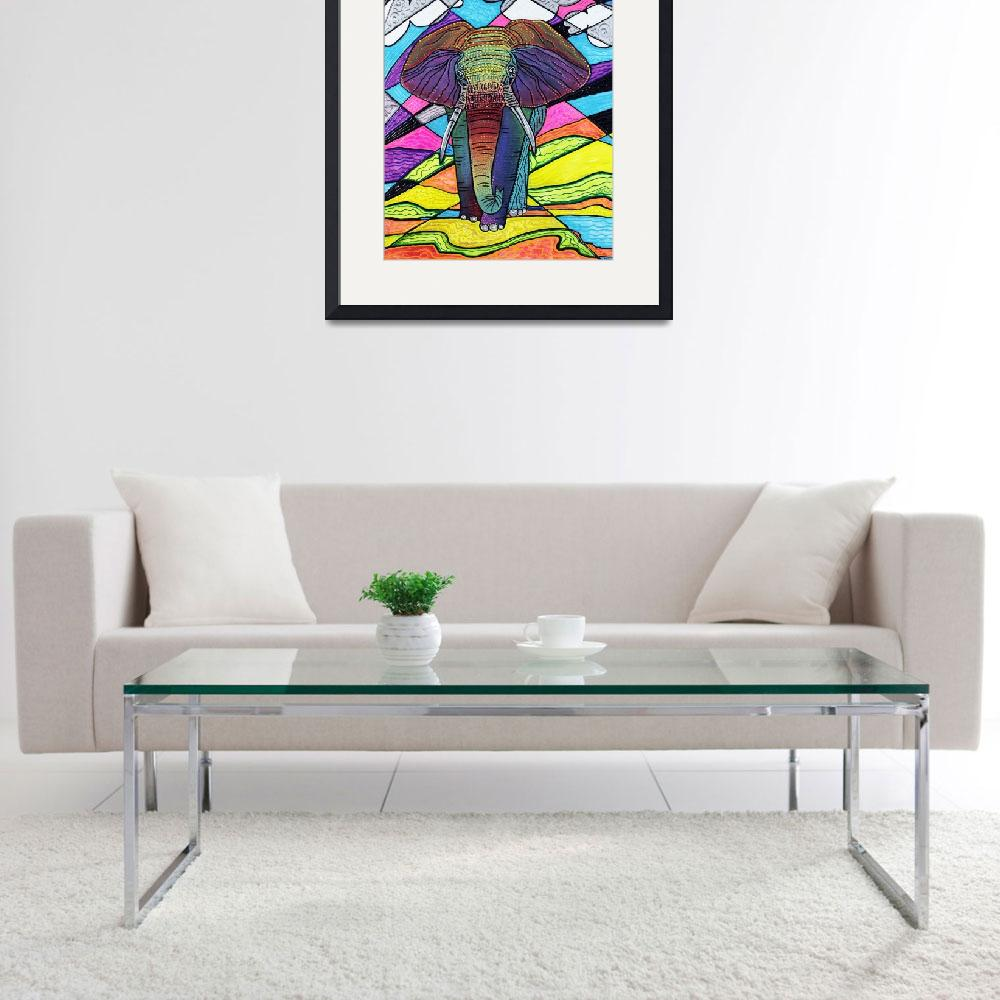"""""""The Mighty Elephant&quot  (2016) by ArtPrints"""