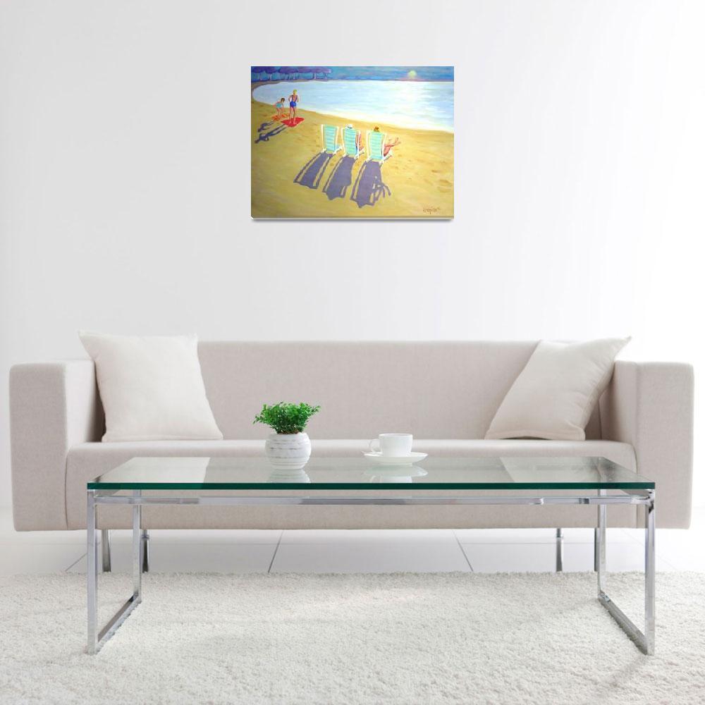 """Last Rays - Beach Ocean Seashore Sunset Women""  by RebeccaKorpita"
