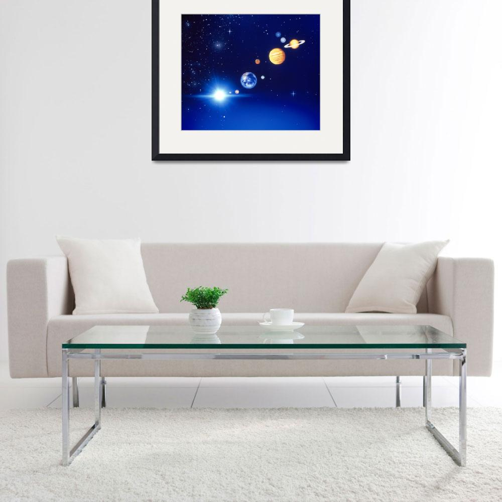 """""""Conceptualized solar system with planets&quot  by Panoramic_Images"""